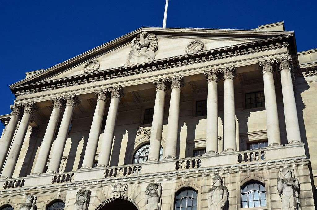 The Bank of England in Threadneedle Street in London