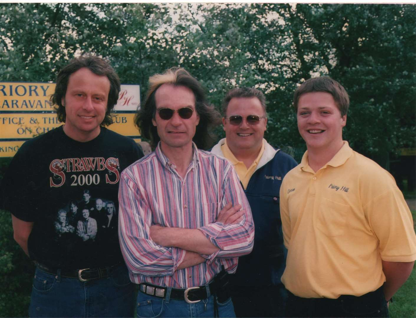 Mike Butcher, left, at Priory Hill with, from the left, Dave Lambert of The Strawbs, Mike's brother Phil and park manager Darren Lawrence (10138553)