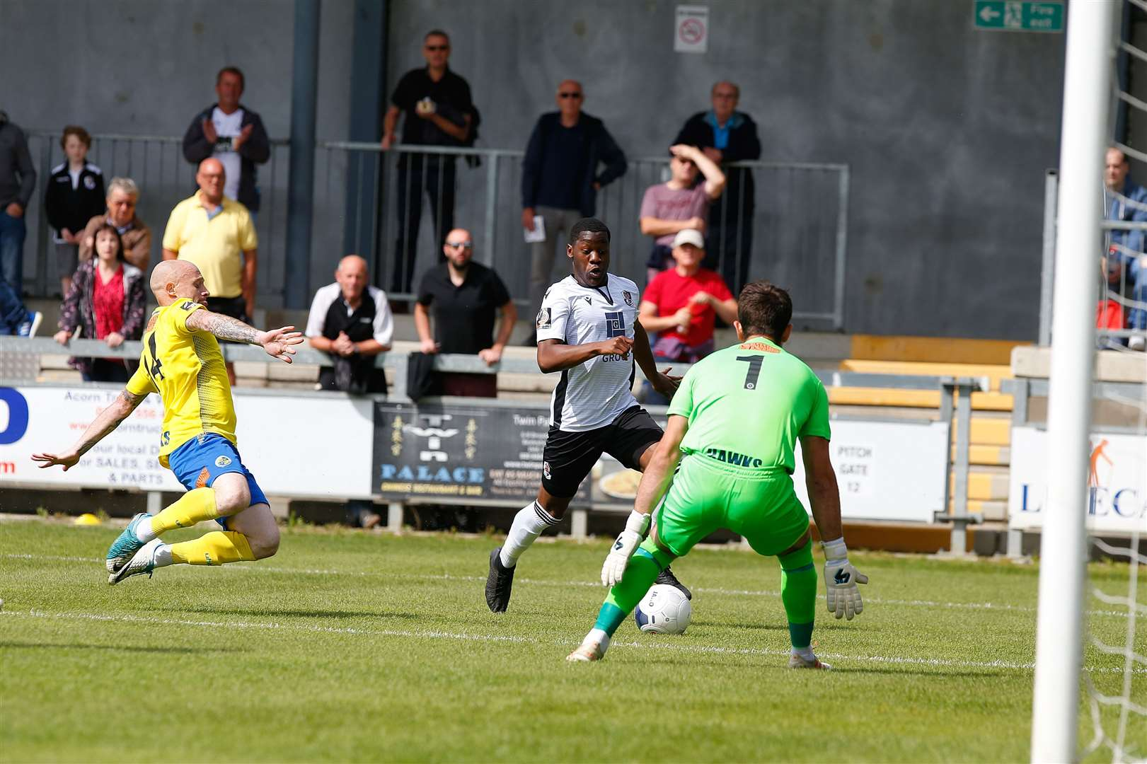 Norman Wabo bears down on goal Picture: Andy Jones