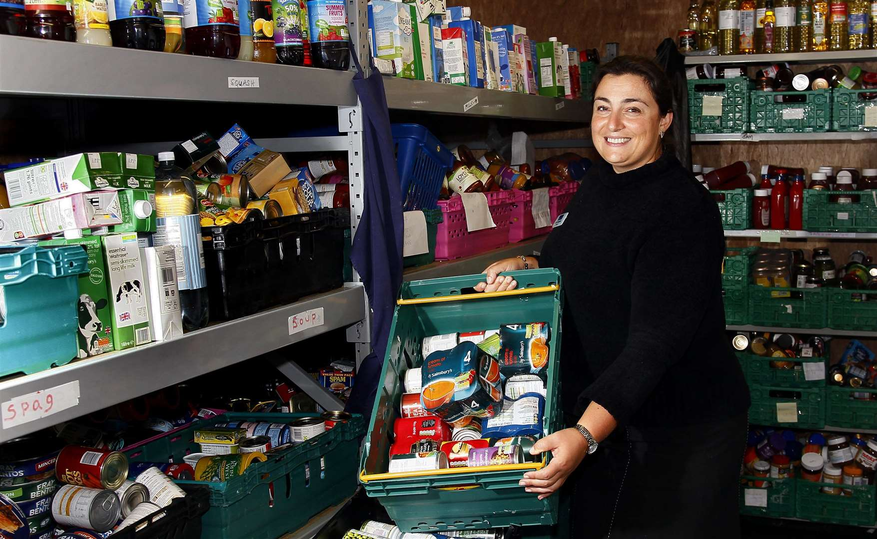 MaidstoneDay Centre has received food donations from Supermarket Sweep pictured Zofia Grzymala.Picture: Sean Aidan (16393542)