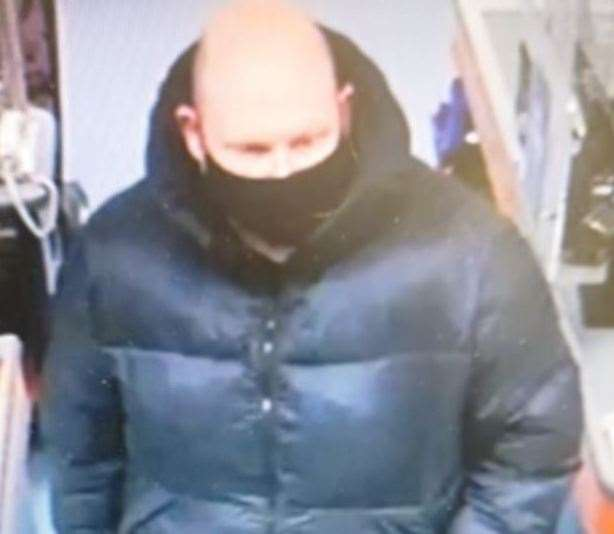 Police have released this image of a man they would like to speak to following the incident at the shop. Picture: Kent Police