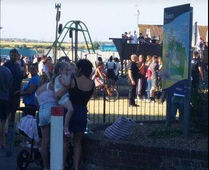Three arrests made after fight breaks out at the strand in - The strand swimming pool gillingham ...