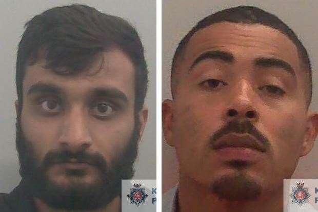 Samnit Sinhu and Warren Young have been locked up for carrying out the robbery. Picture: Kent Police