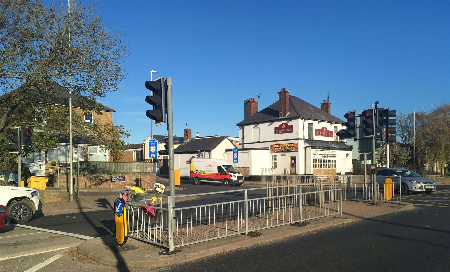 The junction where Sittingbourne schoolgirl Ellie Paine was hit by a car