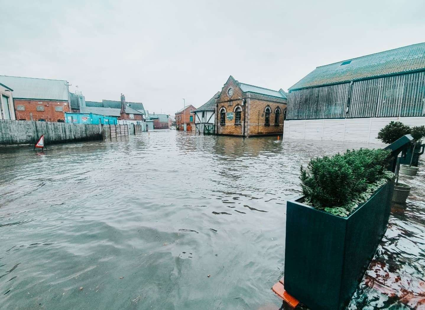 The extent of today's floods. Picture: The Quay