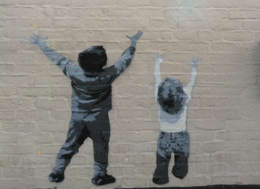 Is this a Banksy drawn on the Catching Lives open centre in Canterbury?