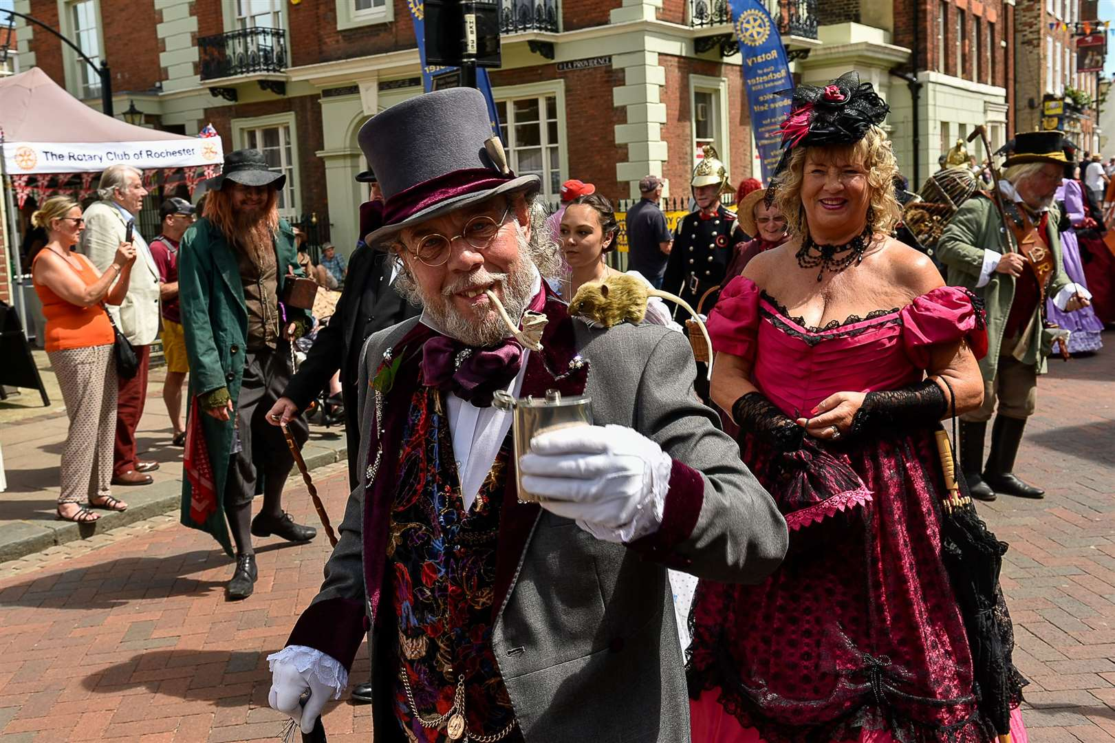 Dickens is celebrated in Rochester city centre each year Picture: Tony Jones