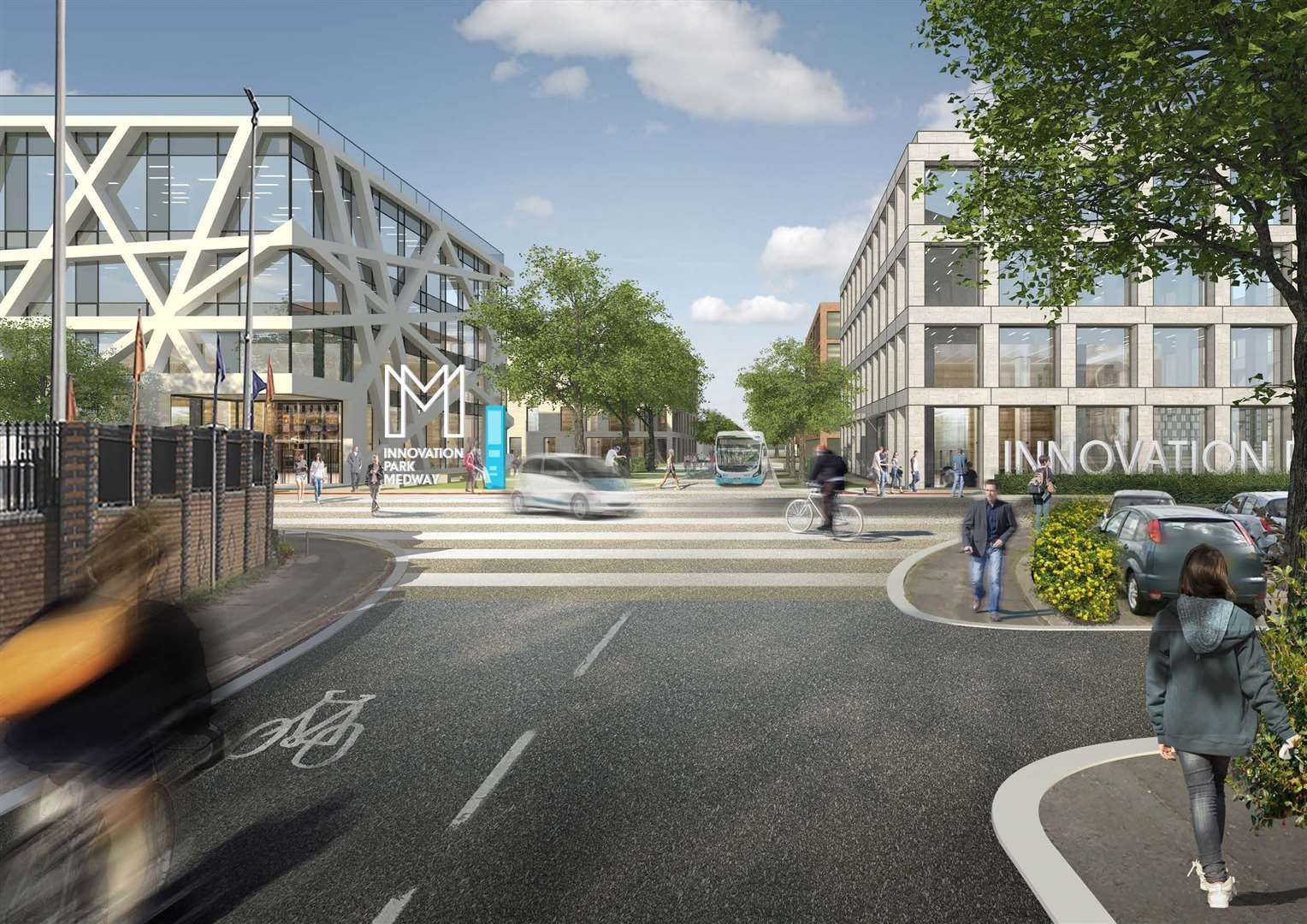 CGI images of what Innovation Park Medway will look like (First phase, Northern Gateway) (7071231)