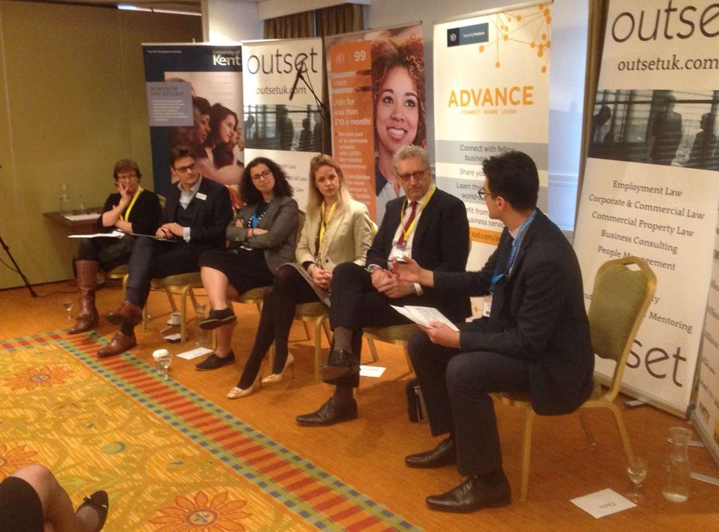 The panel debate on gender balance at work held at the Tudor Marriott Hotel in Maidstone