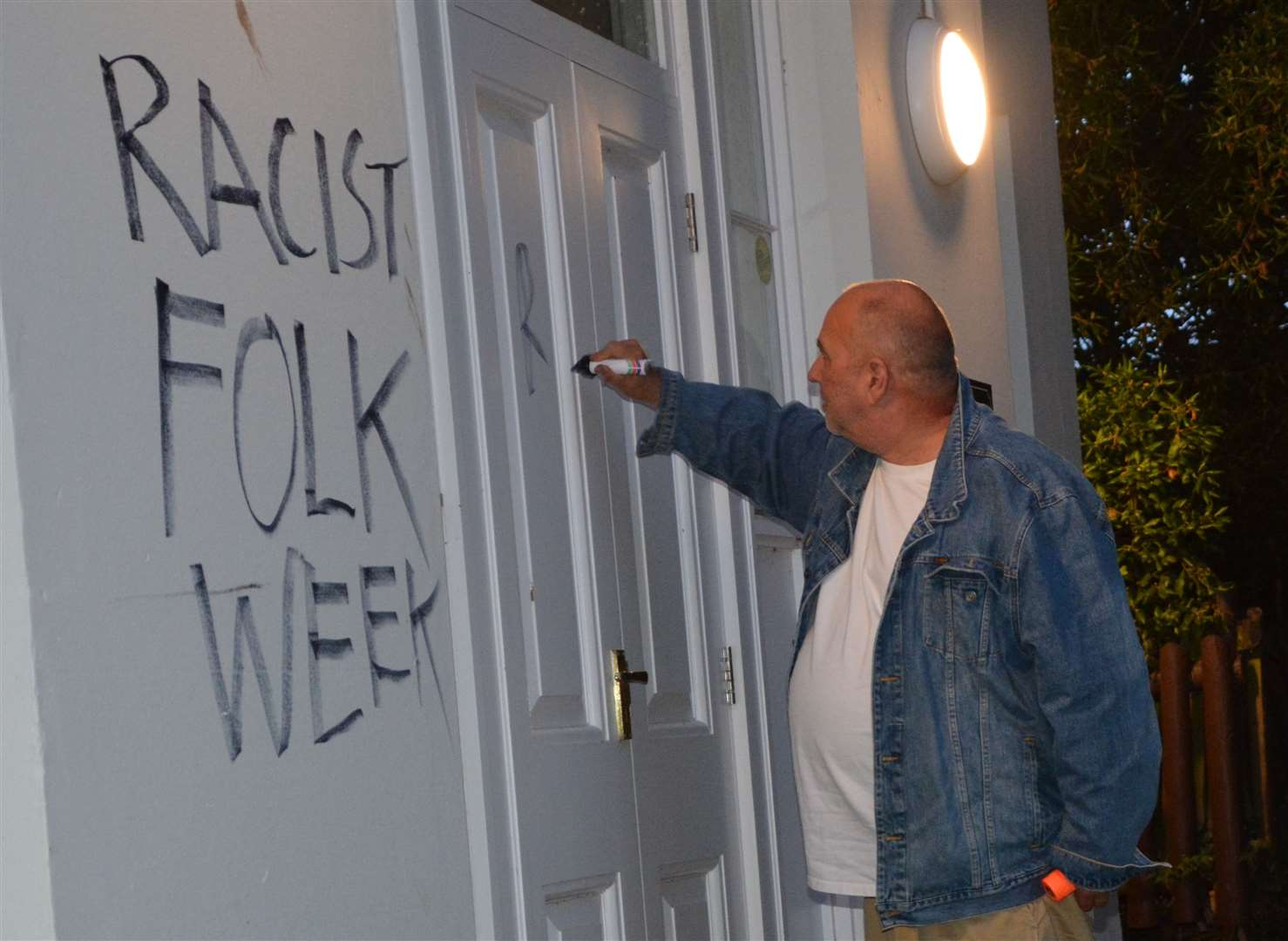 Former councillor Ian Driver says he is responsible for the graffiti. Picture: Ian Driver