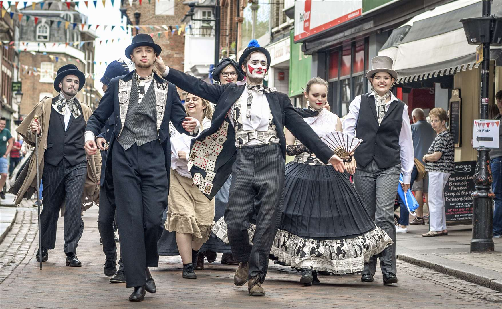 Dickensian characters will parade the streets