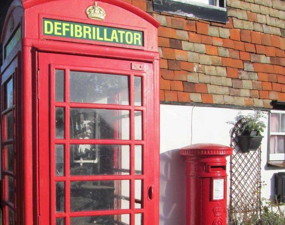 The box where the defibrillator is kept. Credit: Ken Hopkins