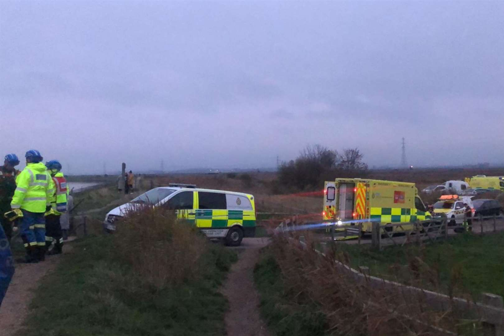 Search crews had been at Oare last night and today (43052546)