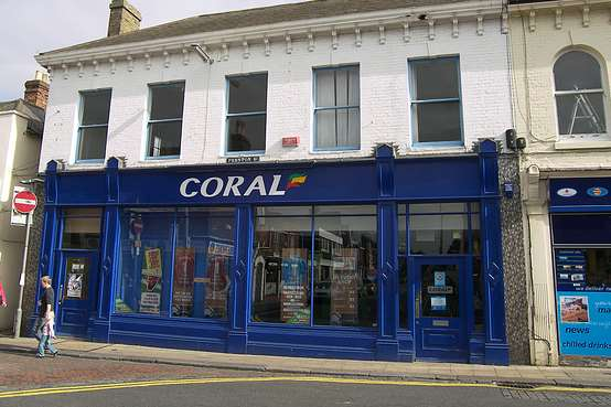 Coral bookmakers where the burglary took place.