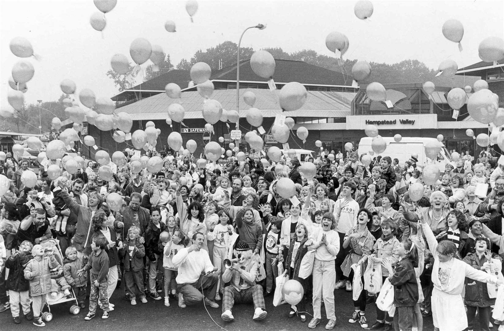 The releasing of balloons for the 10th anniversary of Hempstead Valley Shopping centre in 1988. Picture: Images of Medway book