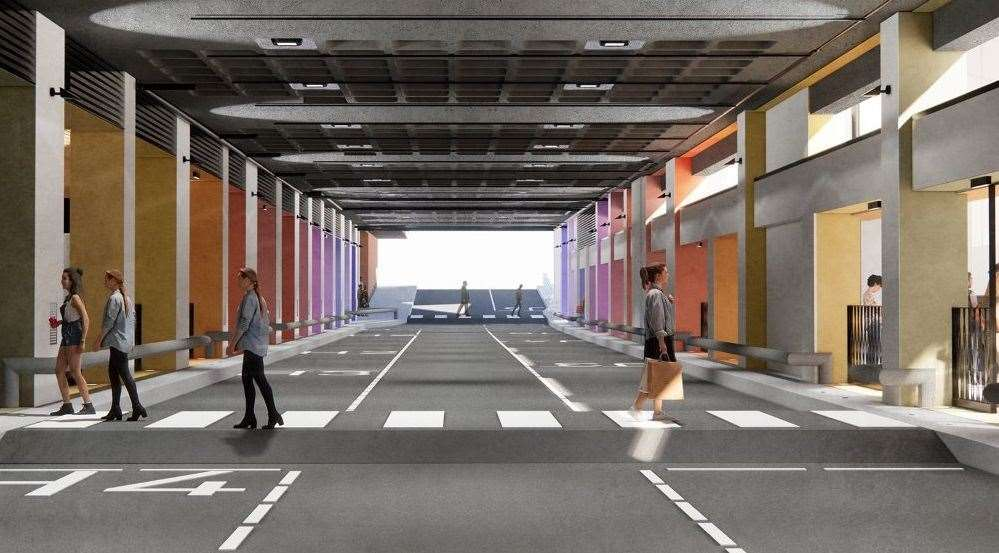 An image of how it's hoped the new Maidstone bus station will look Picture: MBC