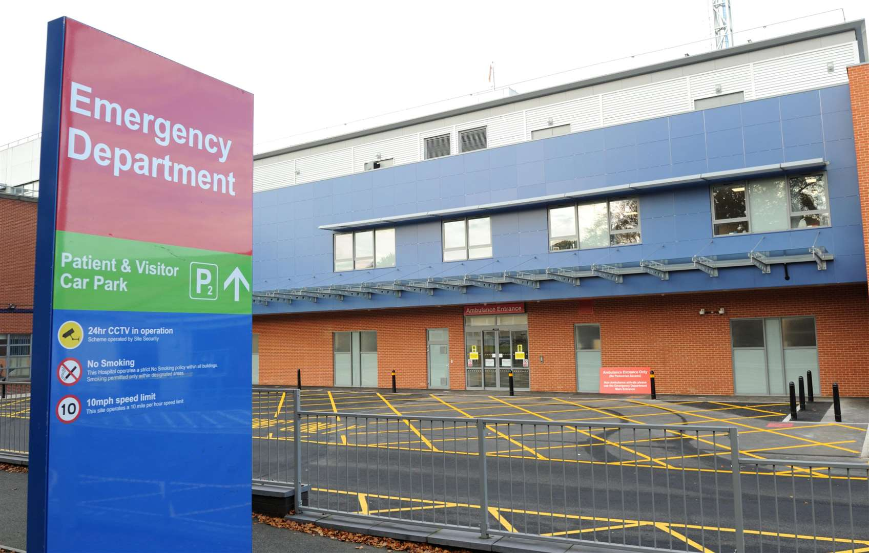 The hospital's new emergency department opens this morning
