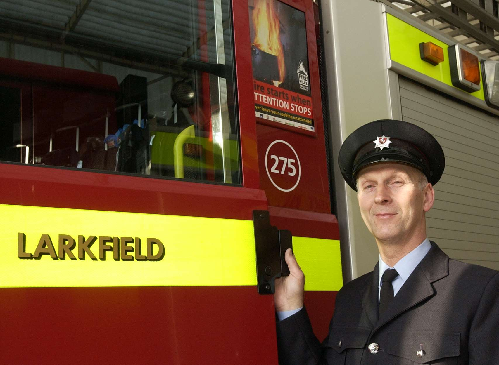 Gary Cook, from Larkfield, retired as a retained firefighter in 2003