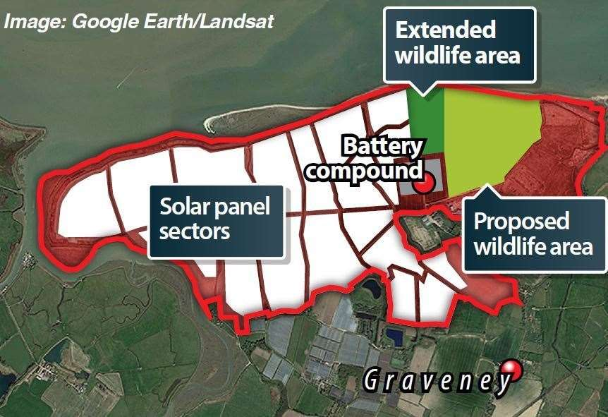 The proposed Cleve Hill solar park