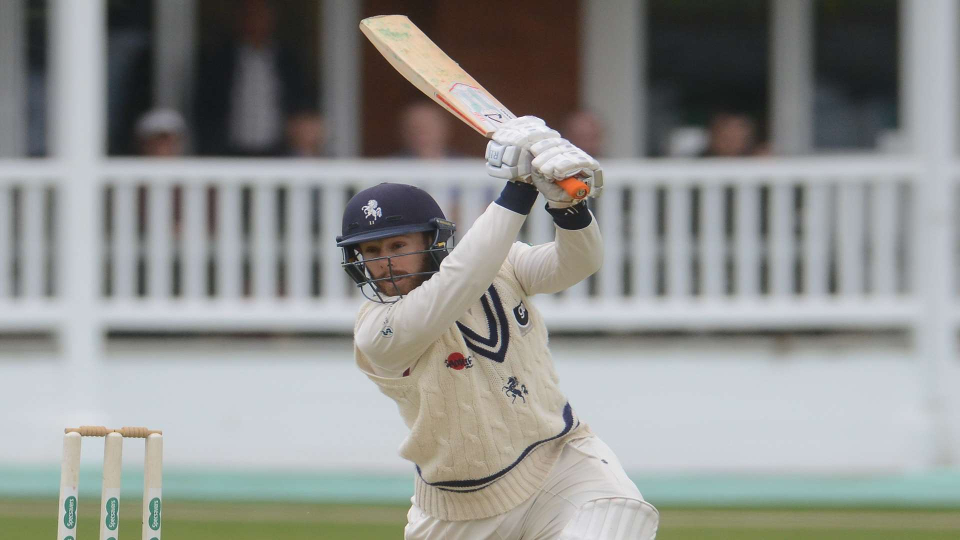 Adam Rouse in action against Derbyshire. Picture: Gary Browne