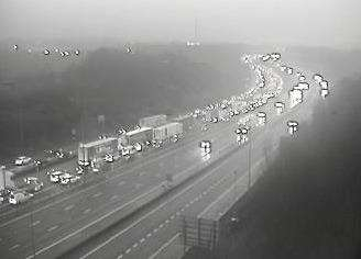 Tailbacks on the M20 this morning (5803890)