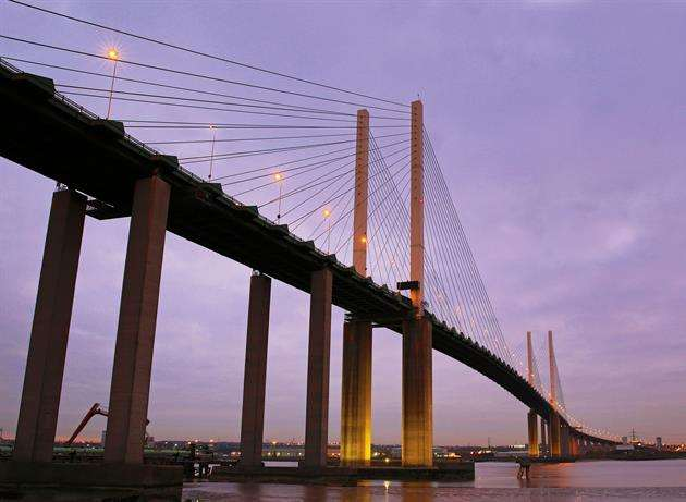 There are long delays at the Dartford Crossing. Stock image