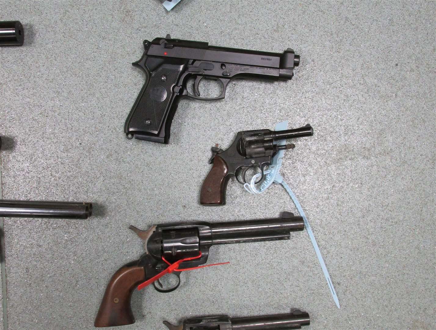 Firearms previously surrendered to Kent Police. Picture: Kent Police