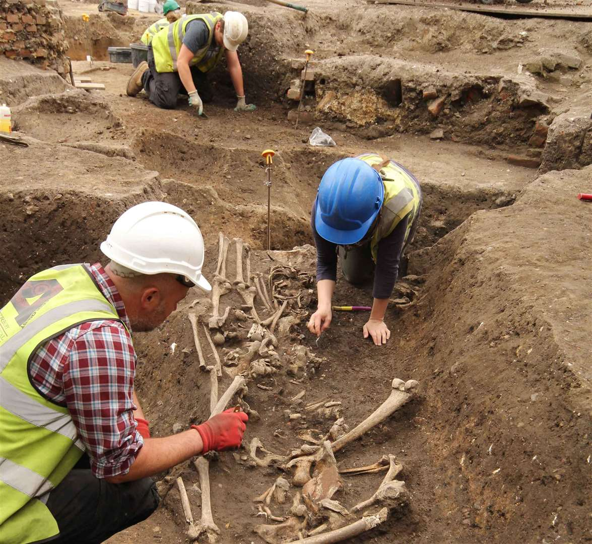 Excavations this summer in Canterbury have revealed the skeletons of those living during the Roman occupation