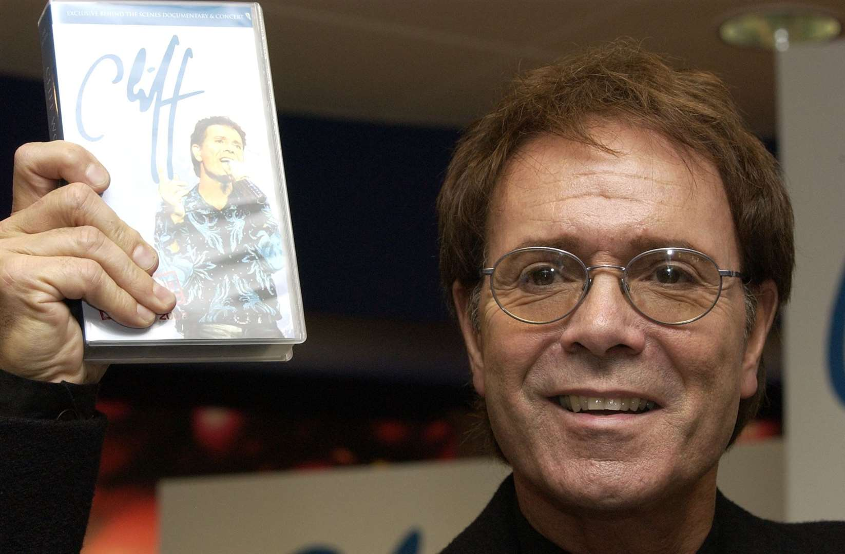Sir Cliff Richard attends a DVD and video signing of his tour in 2003 at Bluewater. Picture: Andy Payton