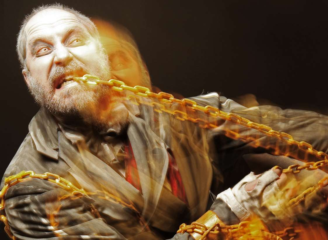 James Hyland as the Ghost of Jacob Marley