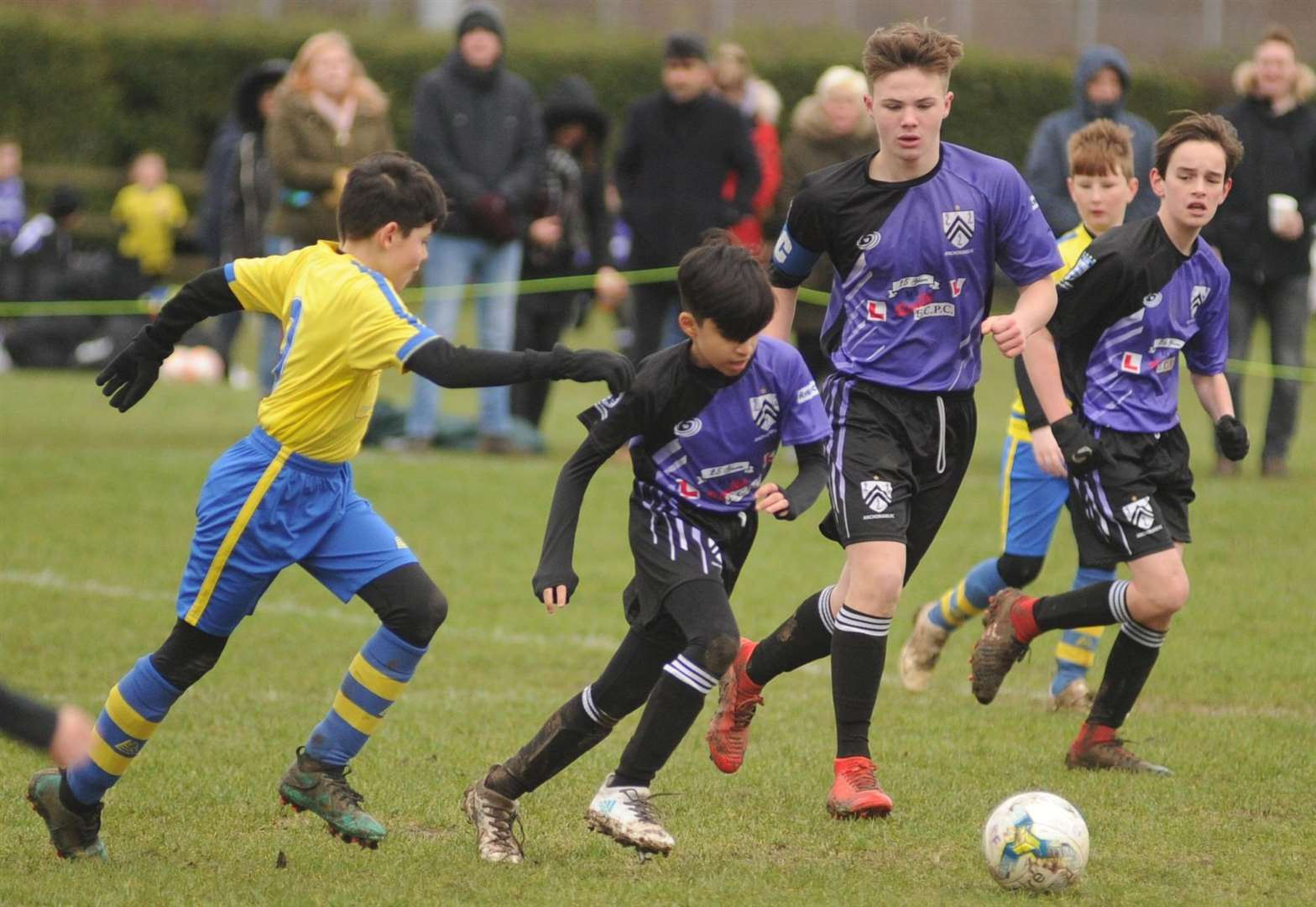 Under-13 Division 2 action between Anchorians Jaguars and Strood 87 Picture: Steve Crispe