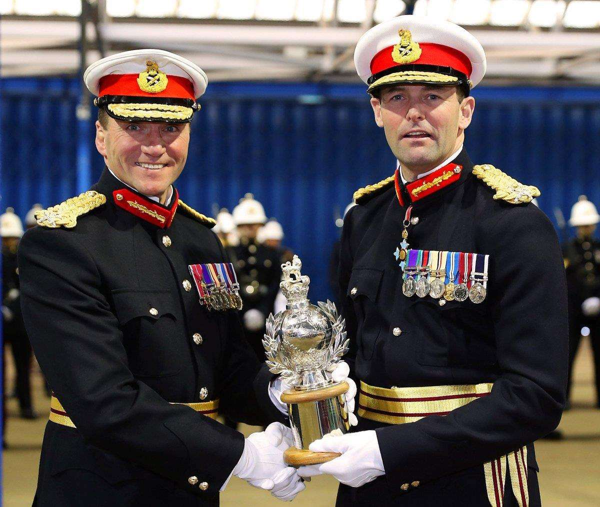 The Commandant General Royal Marines, Major General Rob Magowan CBE (right) was the Royal Marines Heritage Trails first Patron and he has recently been succeeded by Major General Charles Stickland OBE (left) (1435786)