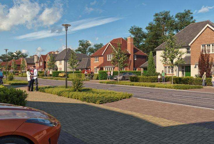 An artist's impression of the leafy development planned at Cockering Farm in Thanington. Picture: Mark Quinn