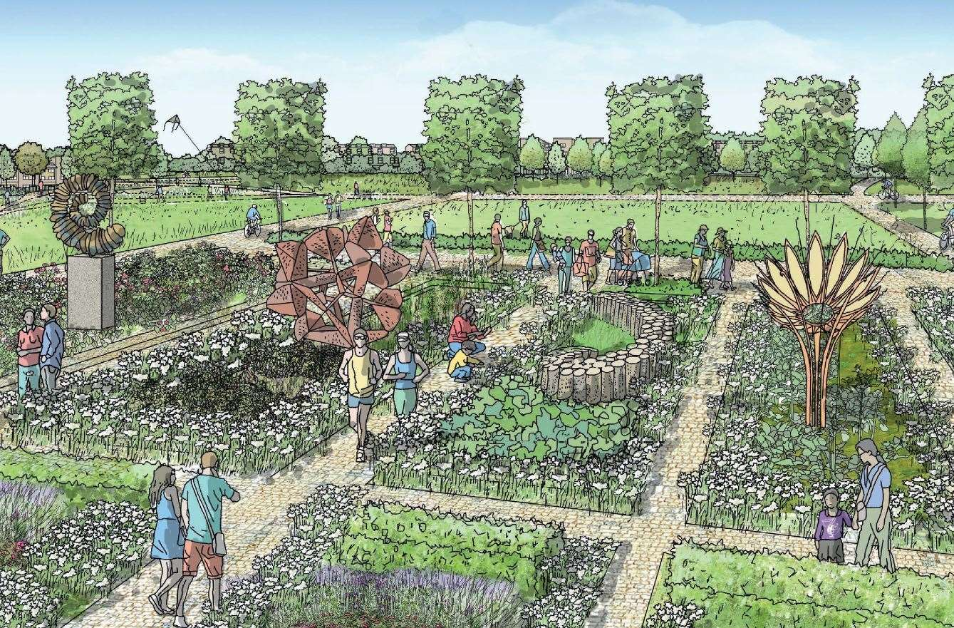 How Westenghanger Park at Otterpool Park might look. Picture: Arcadis Design and Access statement