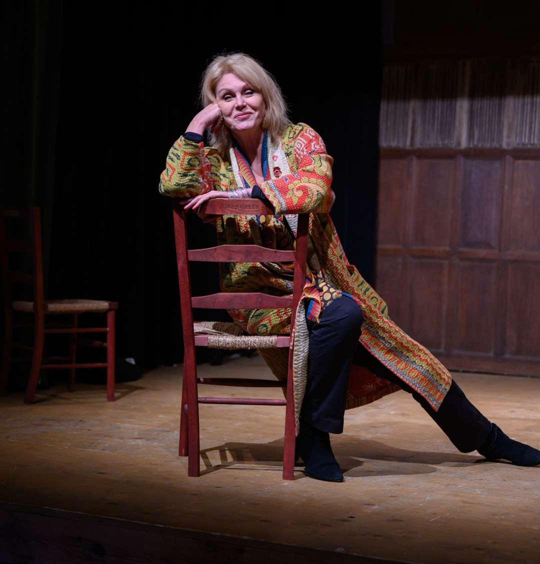Joanna Lumley on the Barn Theatre stage at Smallhythe Place Picture: National Trust/Peter Mould