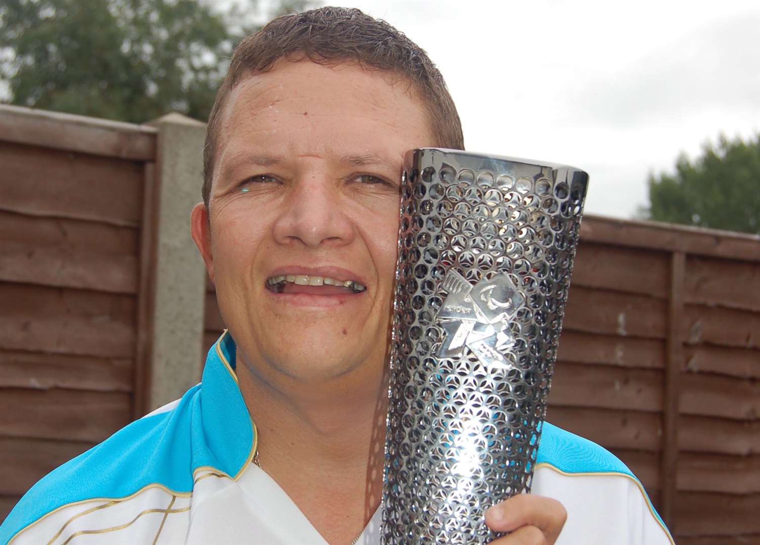 Mr Hardisty carried the Paralympic torch in 2012