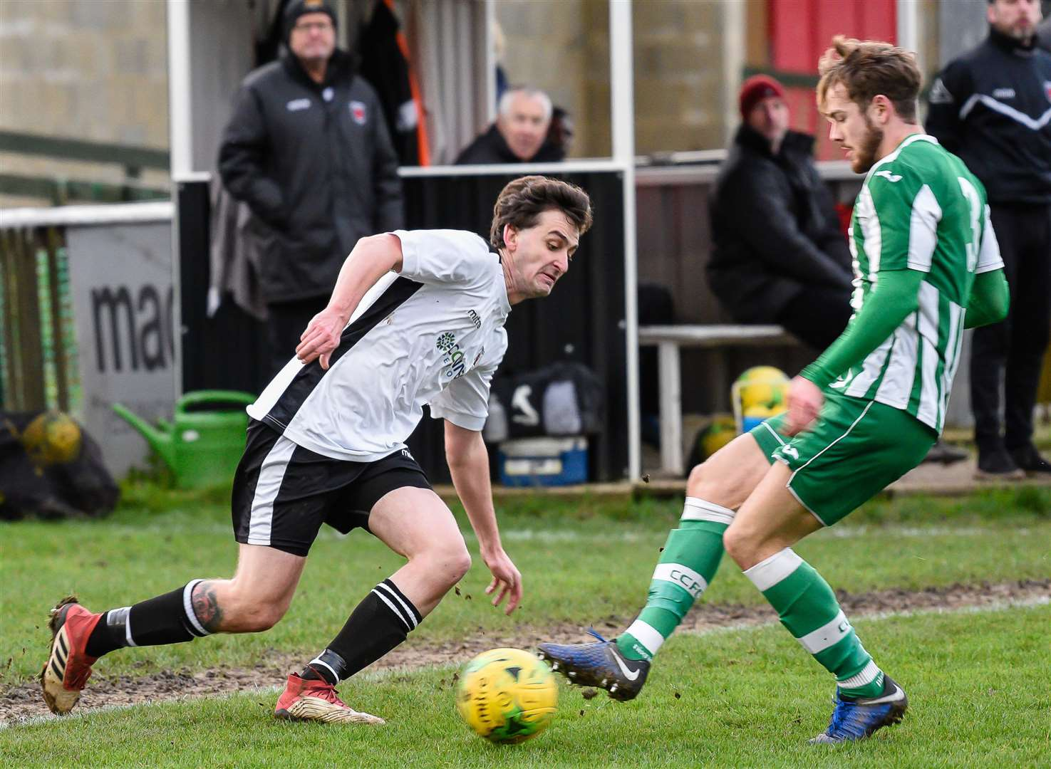 Tom Loynes in action for Faversham Town Picture: Alan Langley