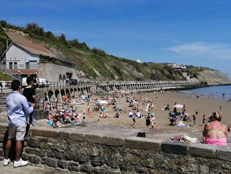 Tourists have flocked to beaches in Kent from as far as Essex and London this week