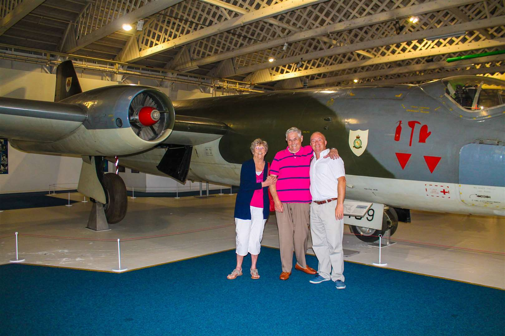 Doreen and Terry Pickett with son Chris. Both Doreen and Terry served with the RAF