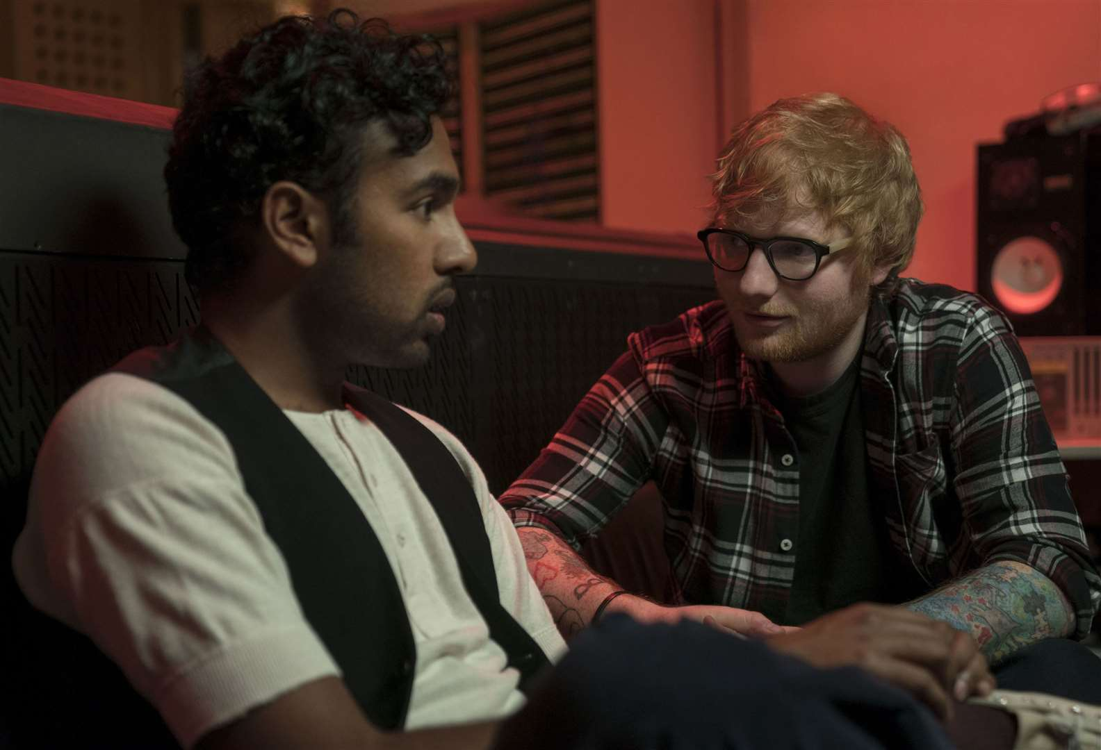 Himesh Patel and Ed Sheeran star in the Richard Curtis movie Yesterday - a film which imagines a world without the Beatles