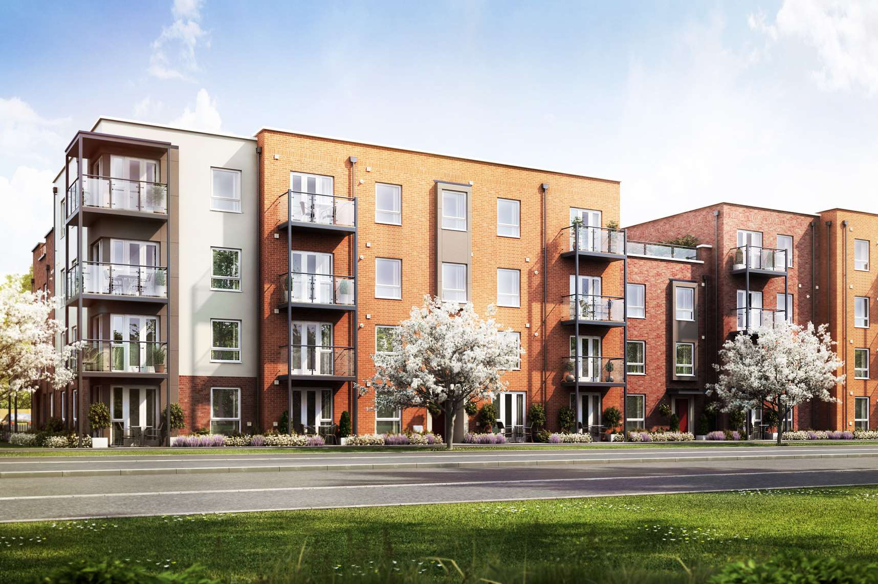 The first phase of apartments built by Barratt Homes in Castle Hill, Ebbsfleet, are about to go on sale