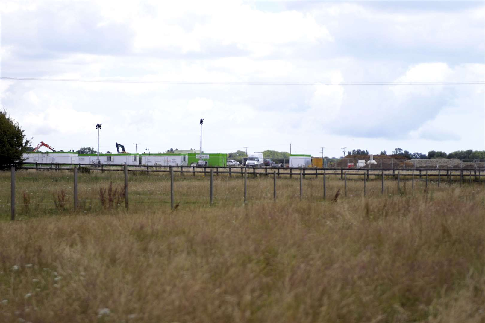 Work has already started at new lorry park in Ashford Picture: Barry Goodwin