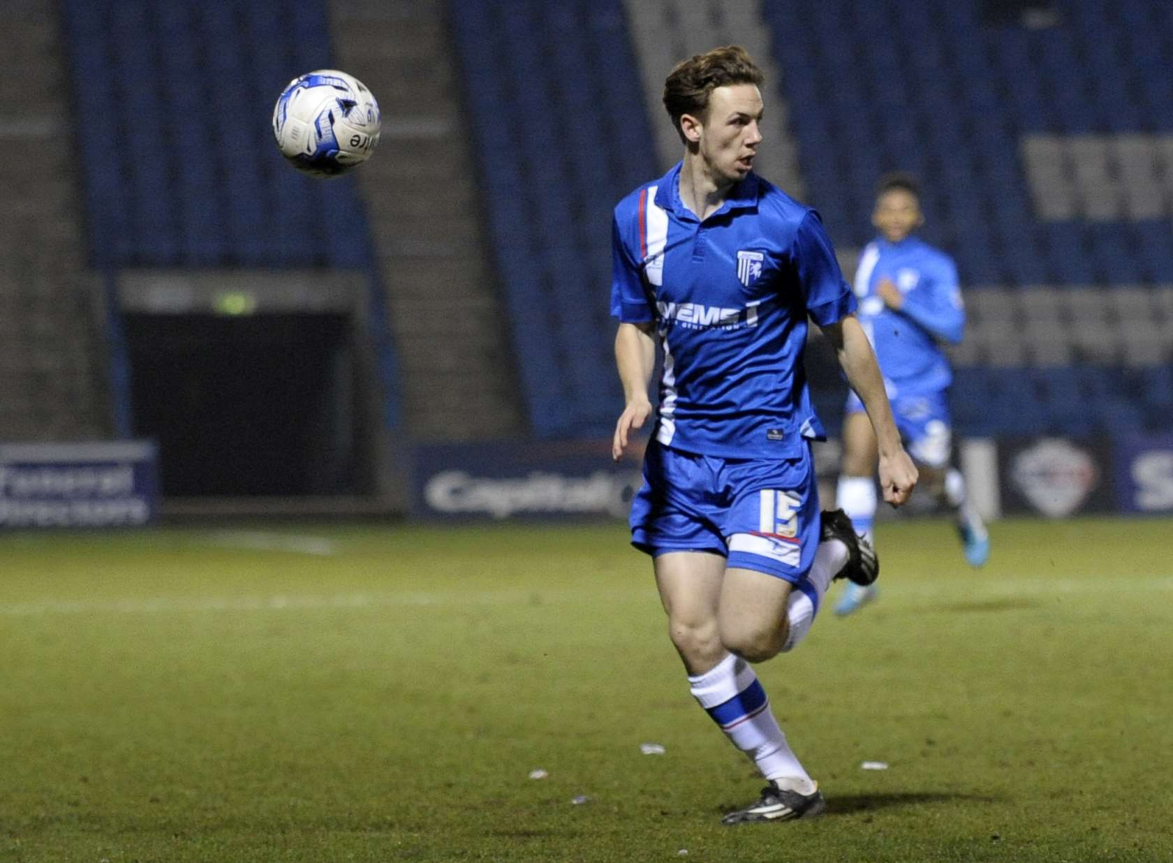 Greg Cundle in action for Gillingham Picture: Barry Goodwin
