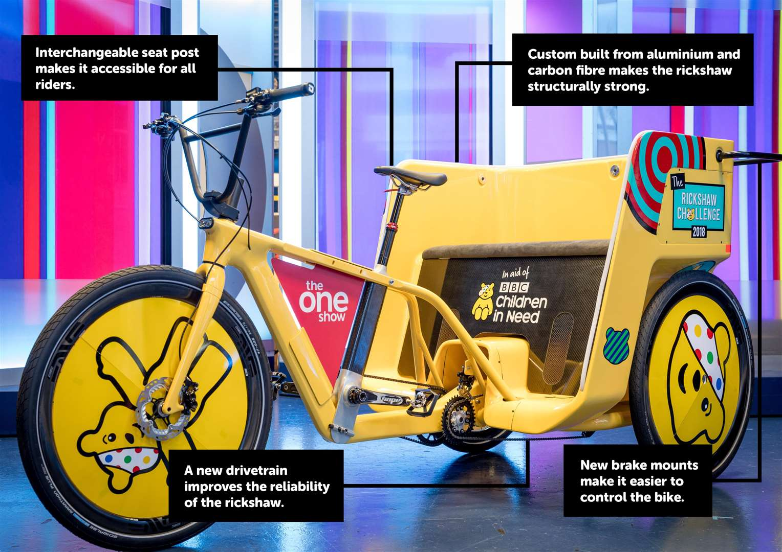 The newly designed rickshaw for the challenge