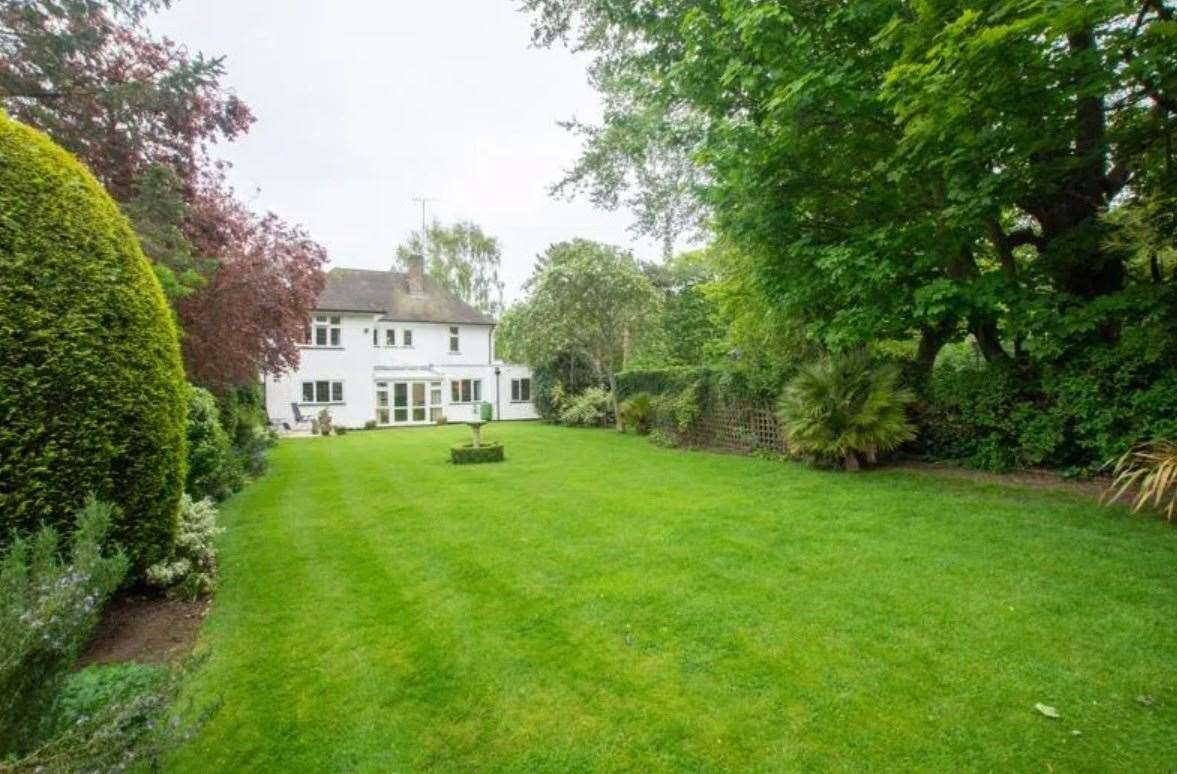 The expansive rear garden. Picture: Zoopla / Colebrook Sturrock