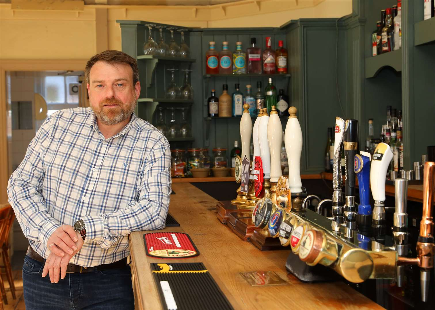 Charles Smythe has just purchased The Dolphin - his fifth Canterbury pub