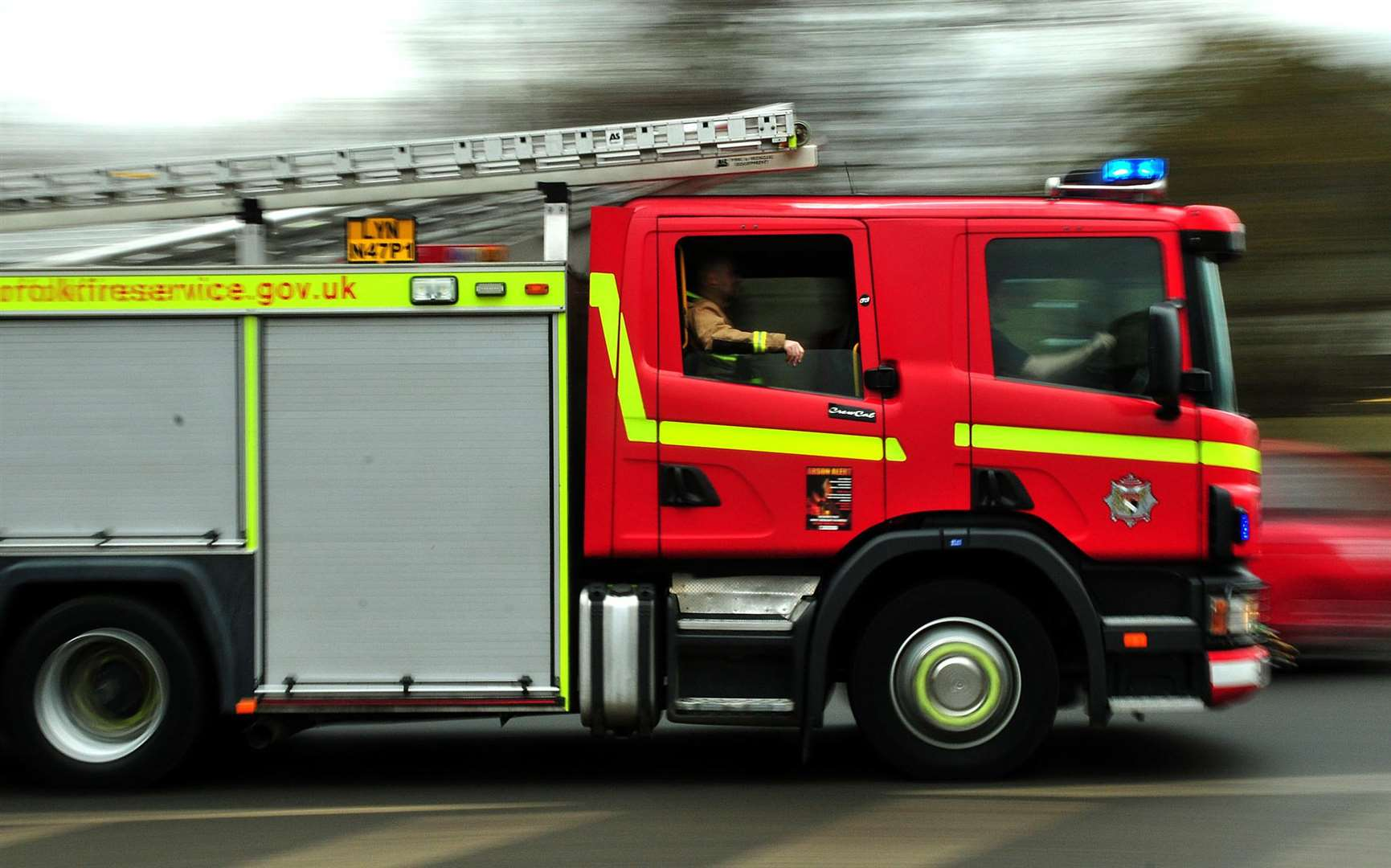 Fire crews were called to Millmead Road, Margate. Stock image