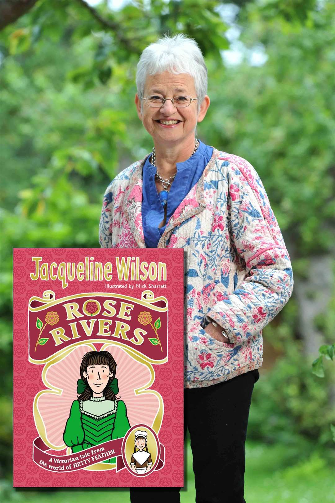 Author Jacqueline Wilson's new book, Rose Rivers