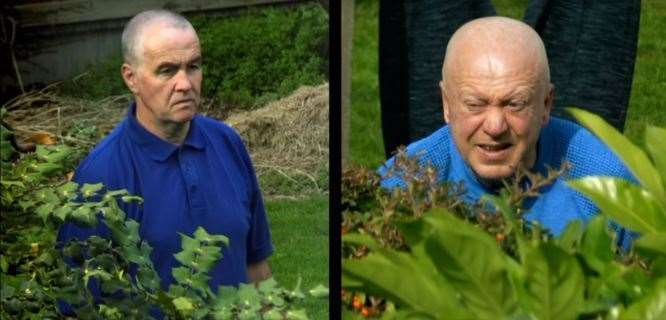 Pictures of Gary Norris and Jimmy Sinclair captured by the Burrows family's CCTV