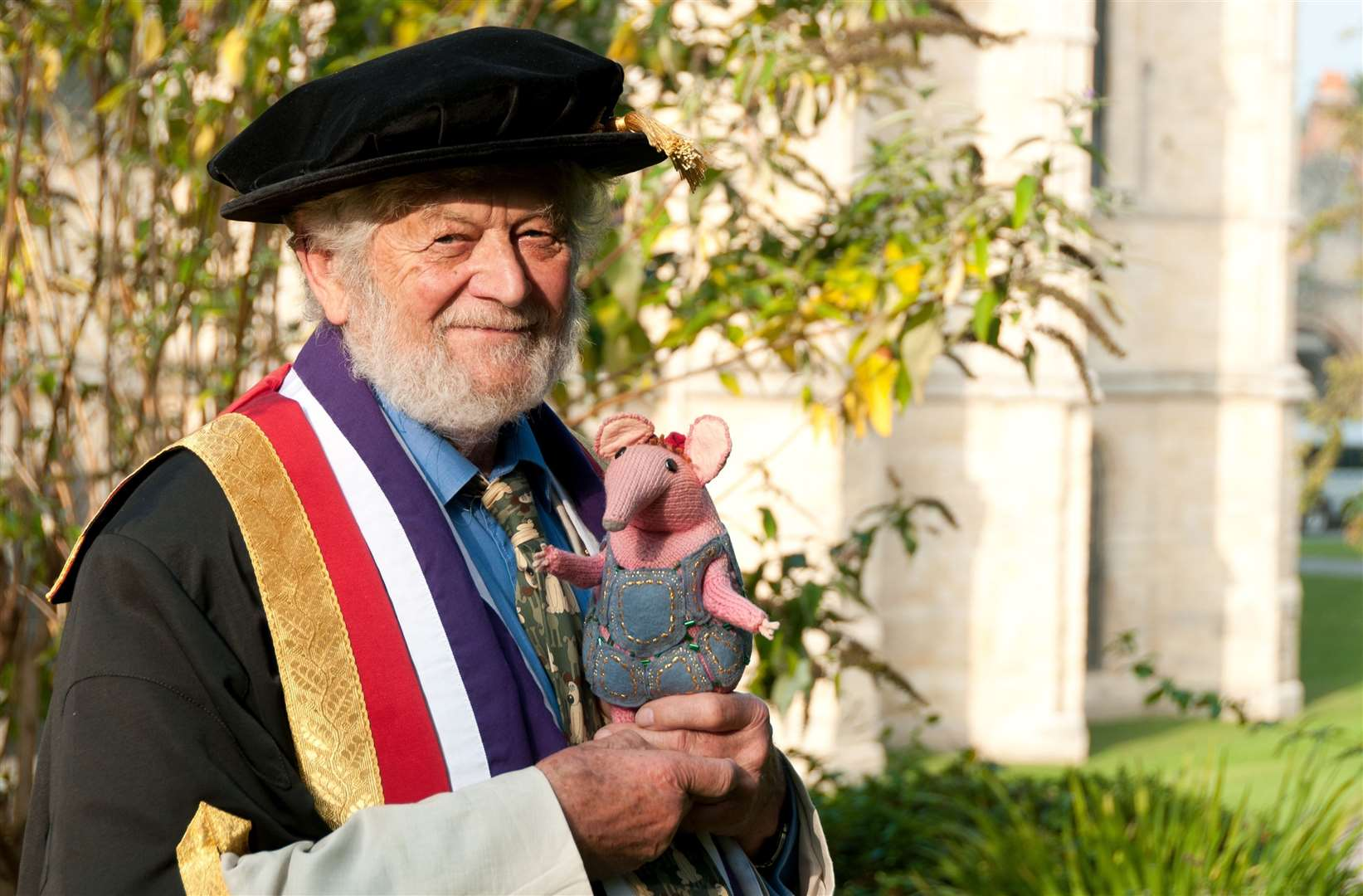 Peter Firmin receiving an honorary degree from Canterbury Christ Church University. Pic: Jeanette Earl